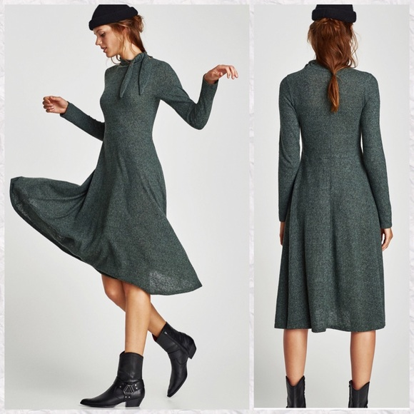 630b957c Zara Dresses | New Long Sleeve Aline Midi Sweater Dress | Poshmark